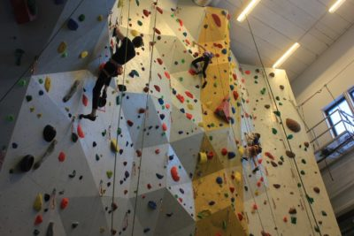 Her er det klatring på gang!
