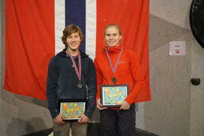 Sammenlagt vinnerene på juniorsiden: Kristian Grigson Eian og Lisa-Maria Kvandahl
